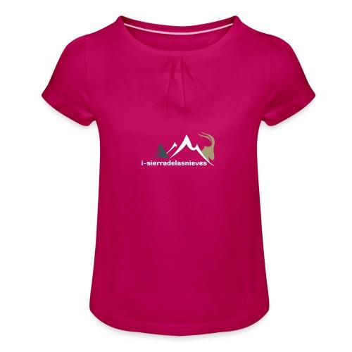 i-sierradelasnieves.com - Camiseta para niña con drapeado