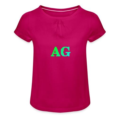 ATG Games logo - Tyttöjen t-paita, jossa rypytyksiä