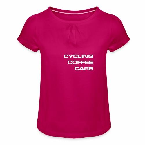 Cycling Cars & Coffee - Girl's T-Shirt with Ruffles