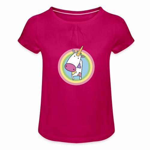 MilkCorn - T-shirt à fronces au col Fille