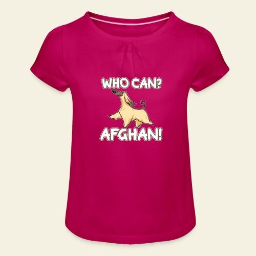 Who Can Afghan II - Tyttöjen t-paita, jossa rypytyksiä