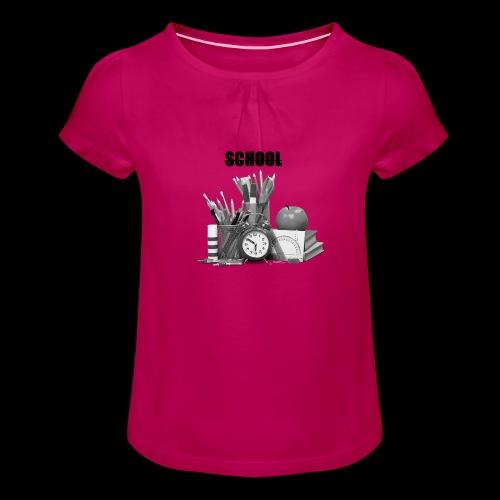 Rentrée des classes - T-shirt à fronces au col Fille