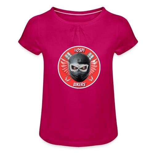 logo hospibikers - Camiseta para niña con drapeado