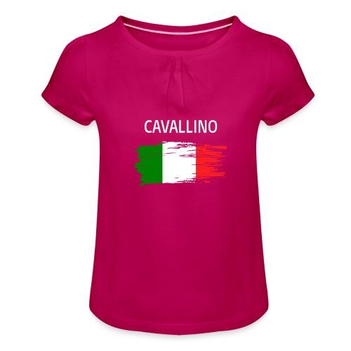 Cavallino Fanprodukte - Mädchen-T-Shirt mit Raffungen