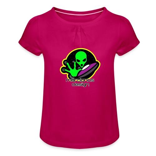 Logo Marcianos - Camiseta para niña con drapeado