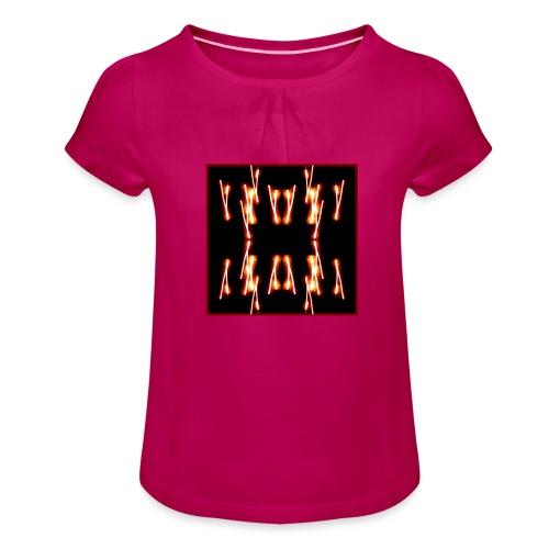 Lichtertanz #4 - Mädchen-T-Shirt mit Raffungen