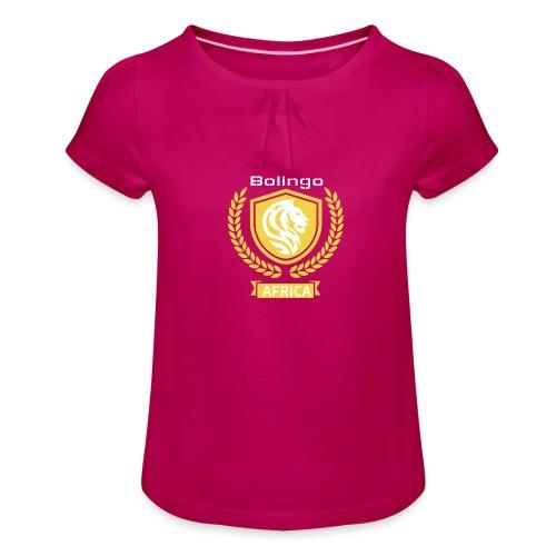 bolingo jaune - T-shirt à fronces au col Fille