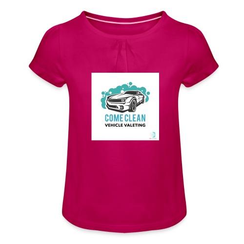 005F6183 5840 4A61 BD6F 5BDD28C9C15C - T-shirt à fronces au col Fille