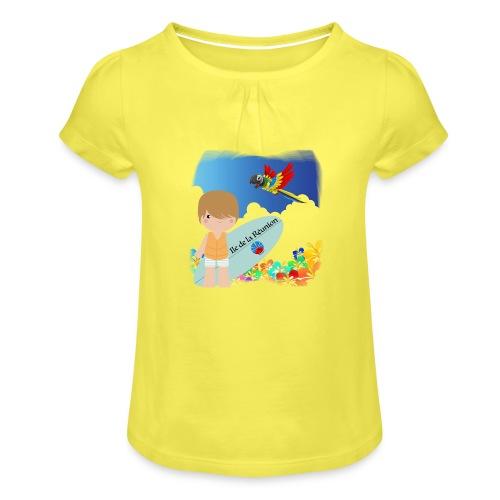 Surf Boy Reunion Island - T-shirt à fronces au col Fille