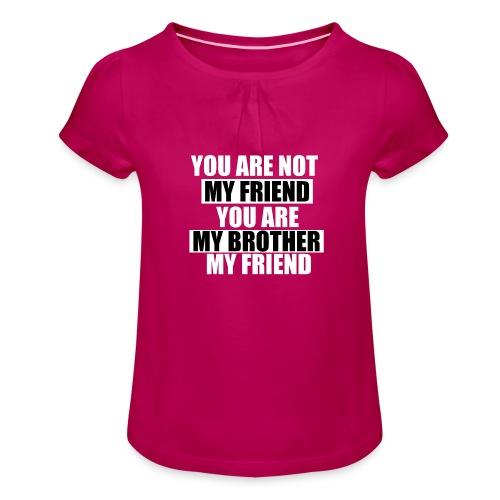 my friend - T-shirt à fronces au col Fille