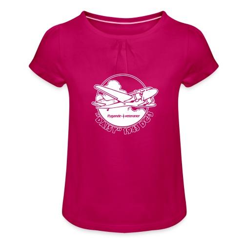 Daisy Clouds 2 - T-shirt med rynkning flicka