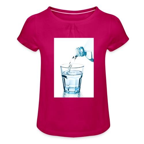 Glas-water-jpg - Meisjes-T-shirt met plooien