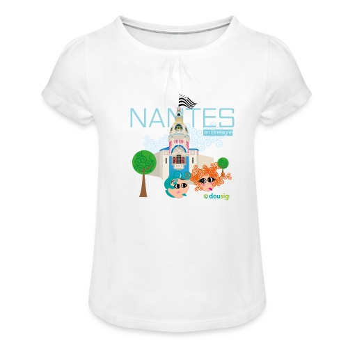 Dousig Nantes en Bretagne - T-shirt à fronces au col Fille