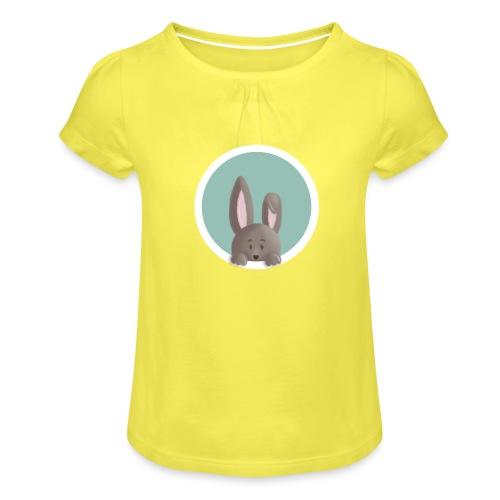 Herr Flausch - Mädchen-T-Shirt mit Raffungen
