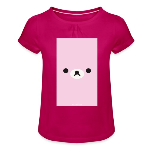Cute Pink Bear Merch - Girl's T-Shirt with Ruffles