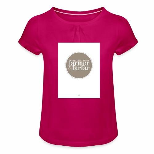 7597DD73 DF61 436F 9725 D1F86B5C2813 - T-shirt med rynkning flicka