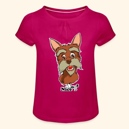 Nice Dogs schnauzer - Maglietta da ragazza con arricciatura