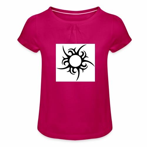 tribal sun - Girl's T-Shirt with Ruffles