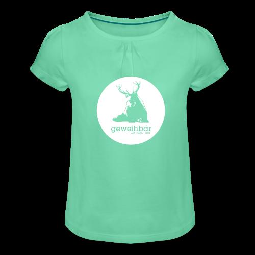 geweihbär - Mädchen-T-Shirt mit Raffungen