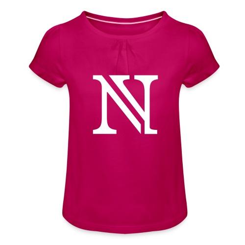 N allein - Mädchen-T-Shirt mit Raffungen