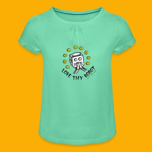 Dat Robot: Love Thy Robot Series Light - Meisjes-T-shirt met plooien