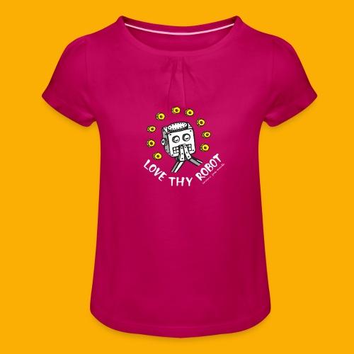 Dat Robot: Love Thy Robot Series Dark - Meisjes-T-shirt met plooien
