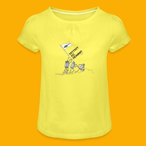 Dat Robot: Destroy War Light - Meisjes-T-shirt met plooien