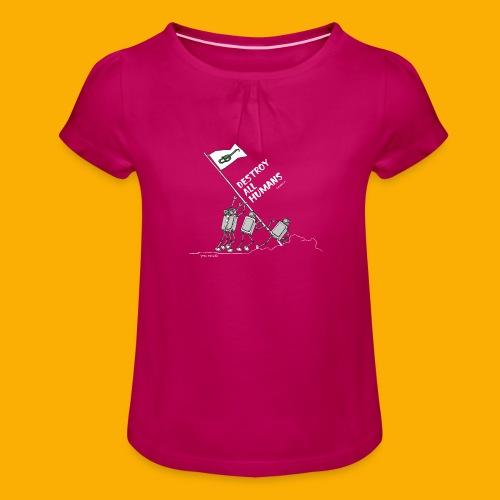 Dat Robot: Destroy War Dark - Meisjes-T-shirt met plooien