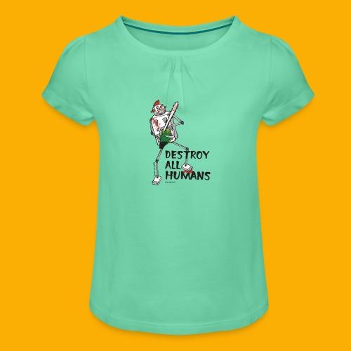 Dat Robot: Destroy Series Killer Clown Light - Meisjes-T-shirt met plooien