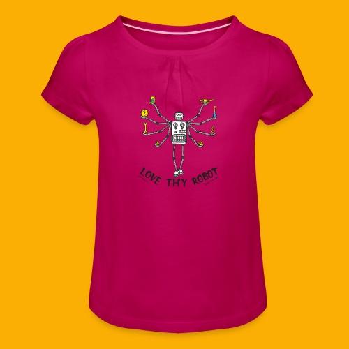 Dat Robot: Love Thy Robot shiva Light - Meisjes-T-shirt met plooien