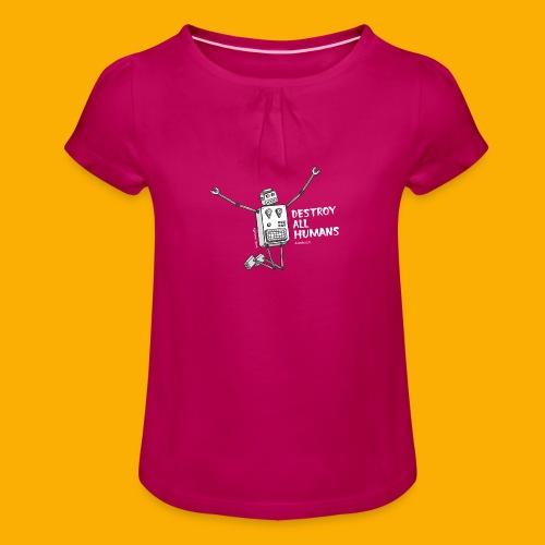 Dat Robot: Happy To Destroy Dark - Meisjes-T-shirt met plooien