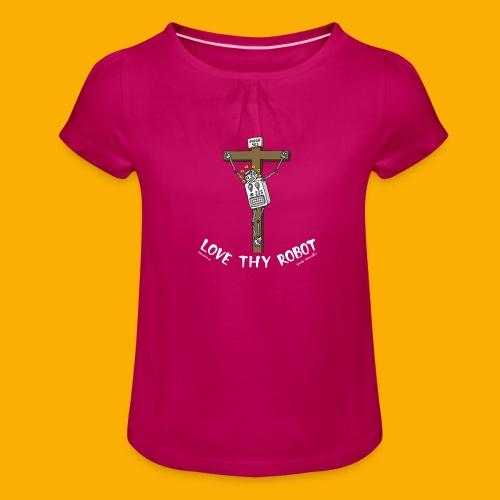 Dat Robot: Love Thy Robot Jesus Dark - Meisjes-T-shirt met plooien