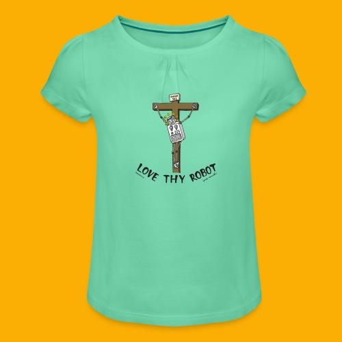 Dat Robot: Love Thy Robot Jesus Light - Meisjes-T-shirt met plooien