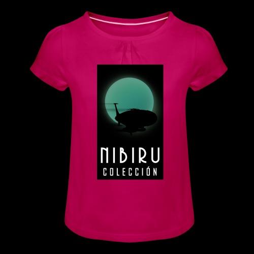 colección Nibiru - Camiseta para niña con drapeado