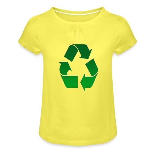 Recyclage - T-shirt à fronces au col Fille
