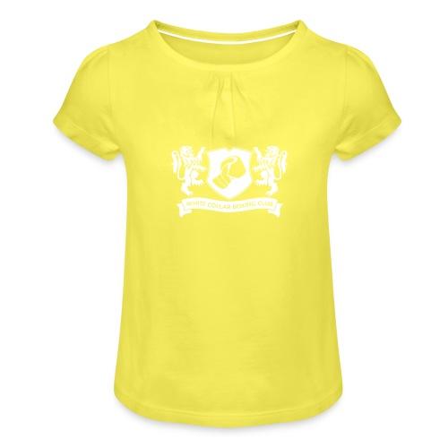 White Collar Boxing Hoodie Classic-Blue - Mädchen-T-Shirt mit Raffungen