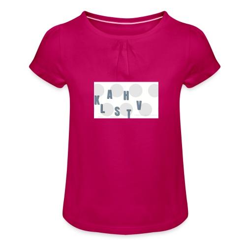 KLASHTV - T-shirt med rynkning flicka