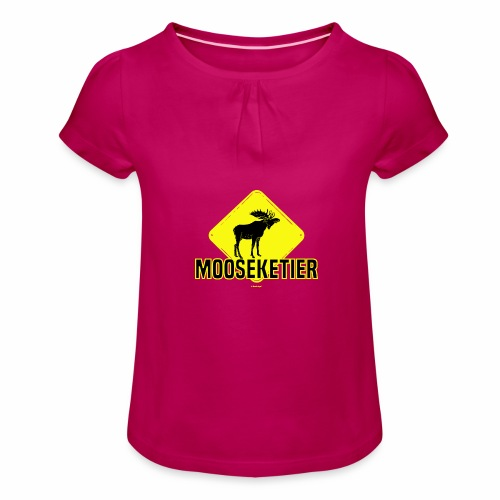 Moosketier - Meisjes-T-shirt met plooien