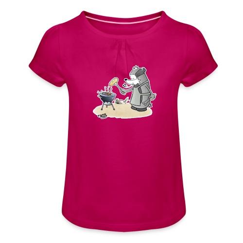 Grillmeister - Jente-T-skjorte med frynser