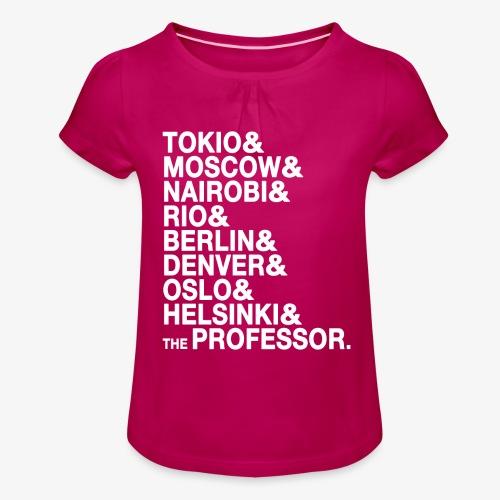 Casa di Carta - Donna Canottiera - Maglietta da ragazza con arricciatura
