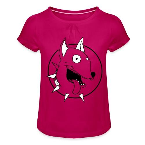 chien fou - T-shirt à fronces au col Fille
