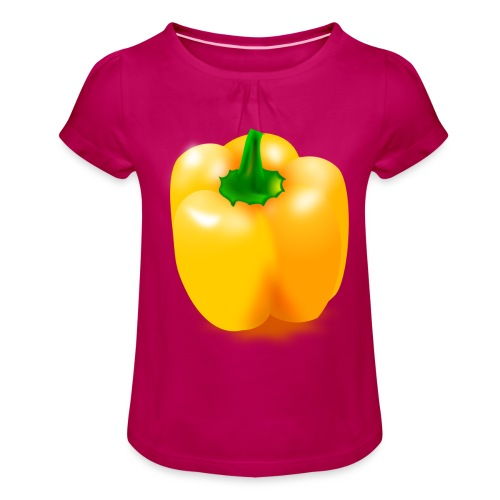 paprika 158476 1280 - Mädchen-T-Shirt mit Raffungen