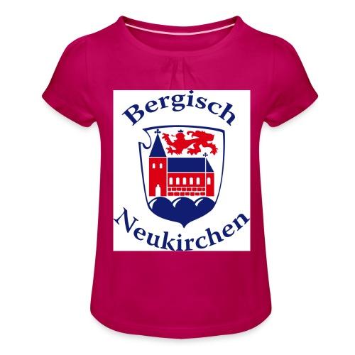 Wappen klein - Mädchen-T-Shirt mit Raffungen