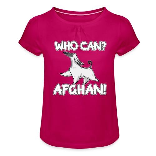 Who Can Afghan III - Tyttöjen t-paita, jossa rypytyksiä