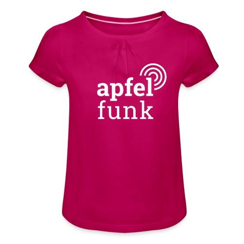 Apfelfunk Dark Edition - Mädchen-T-Shirt mit Raffungen