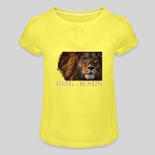 König Jesus der Löwe von Juda - Mädchen-T-Shirt mit Raffungen