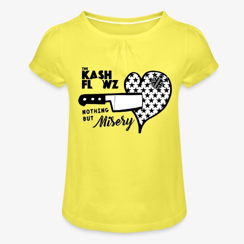 Nothing But Misery Knife Heart Black - T-shirt à fronces au col Fille