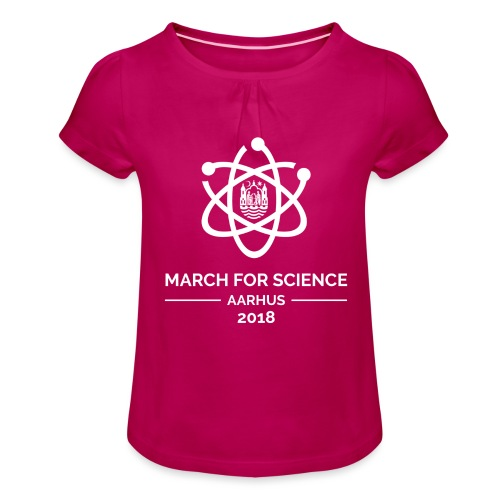 March for Science Aarhus 2018 - Girl's T-Shirt with Ruffles