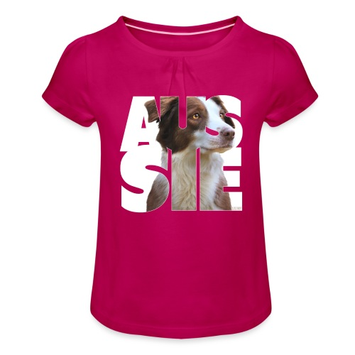 Aussie I - Tyttöjen t-paita, jossa rypytyksiä