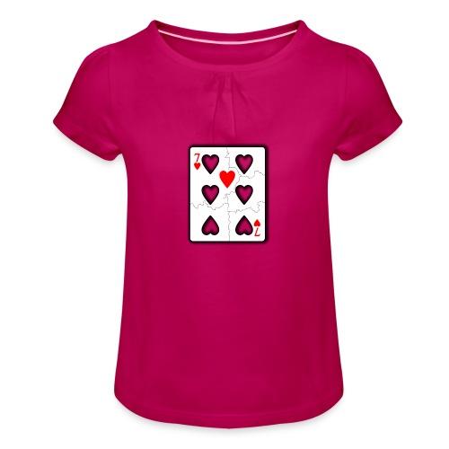 LOVERS N7 - T-shirt à fronces au col Fille
